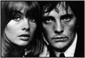 NPG x125463,Jean Shrimpton; Terence Henry Stamp,by Terry O'Neill