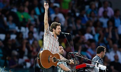 Frank Turner performs at London 2012 Olympics opening ceremony